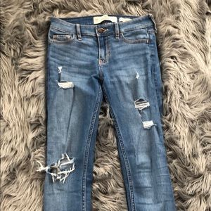 Hollister ripped light wash jeans